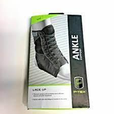 set of 2 P tex lace Up Ankle Support Size Small   9q 30