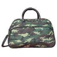 World Traveler Green Camouflage 21 Inch Carry On Shoulder Tote Duffle Bag