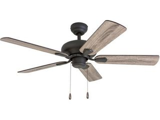 Prominence Home 50751 35 Russwood Traditional 42 Inch Aged Bronze Indoor Ceiling Fan  Barnwood Tumbleweed Blades and 3 speed remote