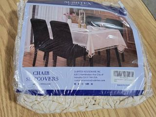 Subrtex Set of 4 Stretch Dining Chair Cover Jacquard Damask Slipcovers
