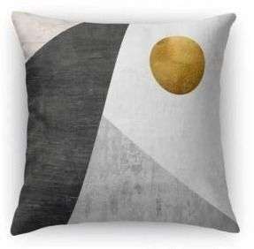 Kavka Designs gold  black  grey night moon accent pillow with insert