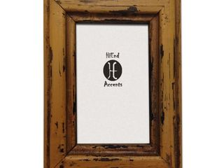 HiEnd Accents Painted Distressed Wood Frame  Ea