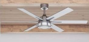 56  Honeywell Kaliza Indoor Modern Ceiling Fan with Remote  Pewter  Retail 226 49