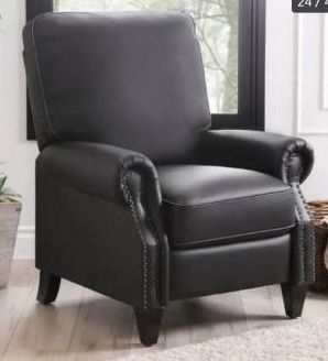 Abbyson Carla Bonded leather Pushback Recliner  Retail 382 49