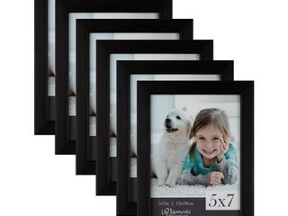life Moments Black Wood Frames  Pack of 6