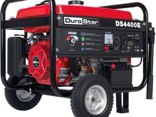 Durostar DS4400E 7 HP Gasoline Powered Electric Start Portable Generator with Wheel Kit  4400 watt  EPA Approved