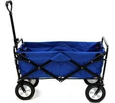 Collapsible Utility Wagon with Telescoping Handle   Heavy Duty Wheeled Cart for Camping  Gardening  landscaping by Pure Garden  Retail 103 99