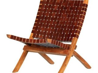 South Shore Balka Woven leather lounge Chair  Retail 246 99