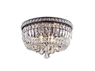 Bethany 5 light Iron and Crystal Candle Chandelier  Retail 127 49