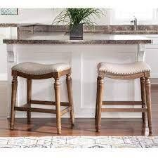 Copper Grove Barmstedt Brown Counter Stool with Beige Saddle Seating  Retail 105 99