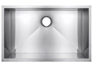 Golden Vantage Handmade Undermount Stainless Steel 33 in  x 22 in  x 9 in  Single Bowl Kitchen Sink in Brushed Finish  Brushed Stainless Steel