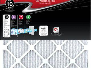Honeywell 16 in  x 25 in  x 1 in  Elite Allergen Pleated FPR 10 Air Filter
