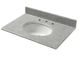Pegasus 31 Inch Napoli Granite Vanity Top with White Bowl and 8 Inch Spread
