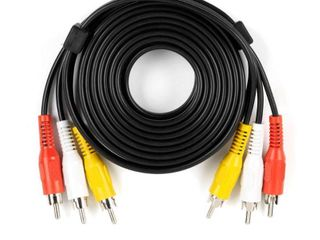 CE TECH Video and Combo Cables 12 ft  Audio and Video Cable with RCA Plugs