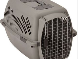 Petmate Pet Taxi Kennel Portable large Vet And Trainer 26  X 18  X 16  Gray