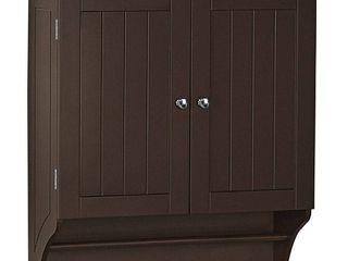 Ashland Collection 2 Door Bathroom Storage Wall Cabinet   Espresso