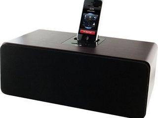 ilive Cherry Wood 2 1 Channel Speaker System iPod Dock