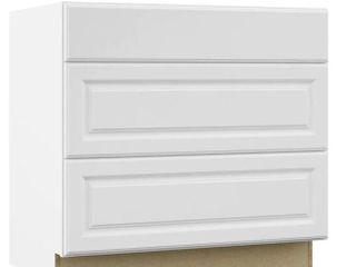 Hampton Bay 3 Drawer White Cabinet 24 5 Dx34 5 Hx36