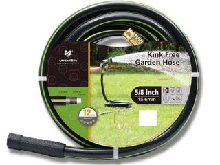 Worth Garden Heavy Duty Kink Free 5 8  x 50  Garden Hose