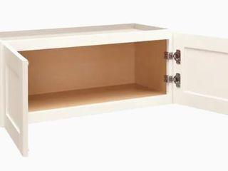 White Horizontal Kitchen Cabinet 36Wx13Dx12H