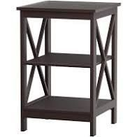 Hastings Home X leg End Table With 2 Shelves