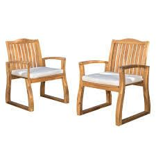 Della Wood Dining Chairs  Set of 2  by Christopher Knight Home