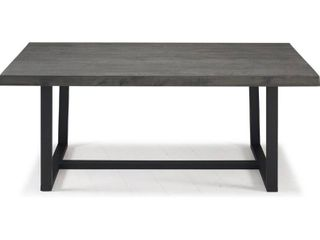 72  Rustic Solid Wood Dining Table   Grey