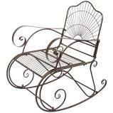 Vintage Sunshade Garden Rocking Chair Metal