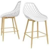 Carson Carrington Tackbyn Mid Century Curved Dining Chair  Set of 2    Set of 2  Retail 179 49
