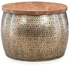 Dreyfus large Silver Drum With Storage Gold Silver