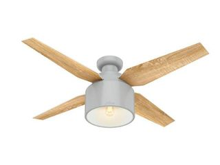 Hunter 52  Cranbrook Dove Grey Ceiling Fan with light Kit and Remote
