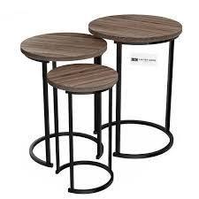 lavish home accent Home Furniture Wood Grain End Table set