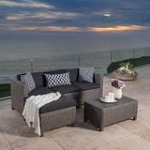 Moses 5 piece outdoor sofa set grey black