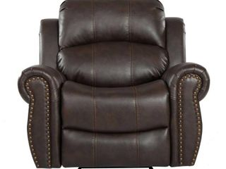 Charlie PU leather Glider Recliner Club Chair by Christopher Knight Home  Retail 392 87