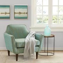 Madison Park Taye Blue Green Mid Century Chair