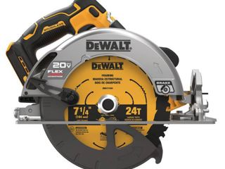 DEWAlT 20 Volt MAX Cordless Brushless 7 1 4 in  Circular Saw with FlEXVOlT ADVANTAGE  Tool Only