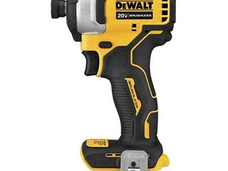DEWAlT DCF809B Atomic 20V Max Brushless Cordless Compact 1 4 In  Impact Driver  Tool Only