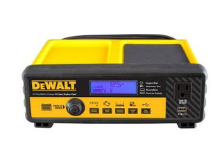 DEWAlT 30 Amp Automotive Portable Car Battery Charger with 80 Amp Engine Start and Alternator Check