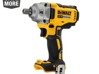 Dewalt 20V Max XR Mid Range Cordless Impact Wrench with Detent Pin Anvil
