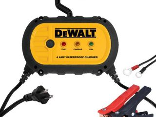 DEWAlT 4 Amp Professional Waterproof Portable Car Battery Charger