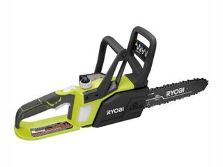 RYOBI ONE  10 in  18 Volt lithium Ion Cordless Battery Chainsaw  Tool Only