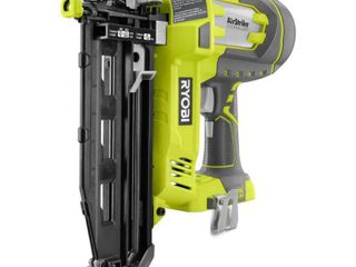 RYOBI ONE  18V lithium Ion Cordless Air Tool 16 Gauge Straight Finish Nailer  Tool Only  with Sample Nails