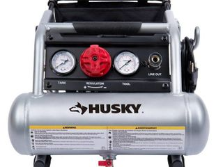 Husky 1 Gal  Portable Electric Powered Silent Air Compressor