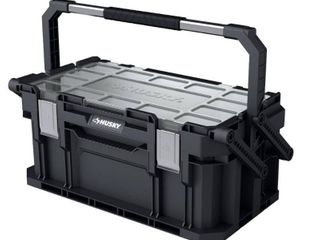 Husky 22 in  Connect Cantilever Portable Tool Box  Black