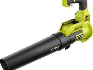 RYOBI 110 MPH 525 CFM 40 Volt lithium Ion Cordless Variable Speed Battery Jet Fan leaf Blower  Tool Only