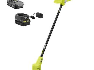 RYOBI 18 Volt ONE  lithium Ion Cordless String Trimmer with 1 5 Ah Battery and Charger Included