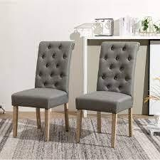 Copper Grove Schwalbach Upholstered Parsons Dining Chairs  Set of 2  Grey  Retail 151 99