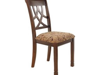 leahlyn Dining Upholstered Side Chair  Medium Brown   Side Chair  Retail 103 99