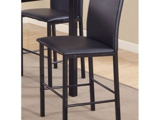 Roundhill Citico Metal Counter Height Dining Chairs with Black Metal Frame  Set of 4  As is