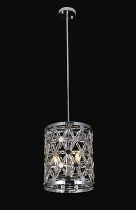 Chrome Metal Single Pendant lighting With Clear Crystal Accents  Retail 611 99